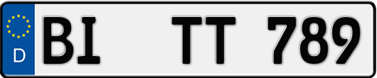 Kfz-Kennzeichen Bielefeld