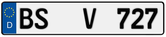 Kfz-Kennzeichen Braunschweig