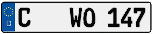 Kfz-Kennzeichen Chemnitz