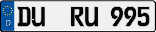 kfz-kennzeichen duisburg