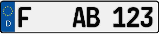 kfz-kennzeichen frankfurt