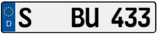 Kfz-Kennzeichen Stuttgart