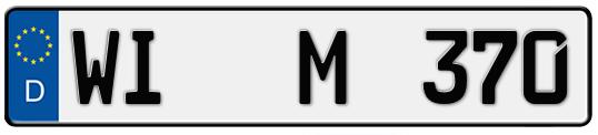 Kfz-Kennzeichen Wiesbaden